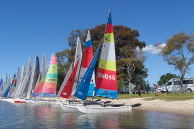 Hobie cats on beach