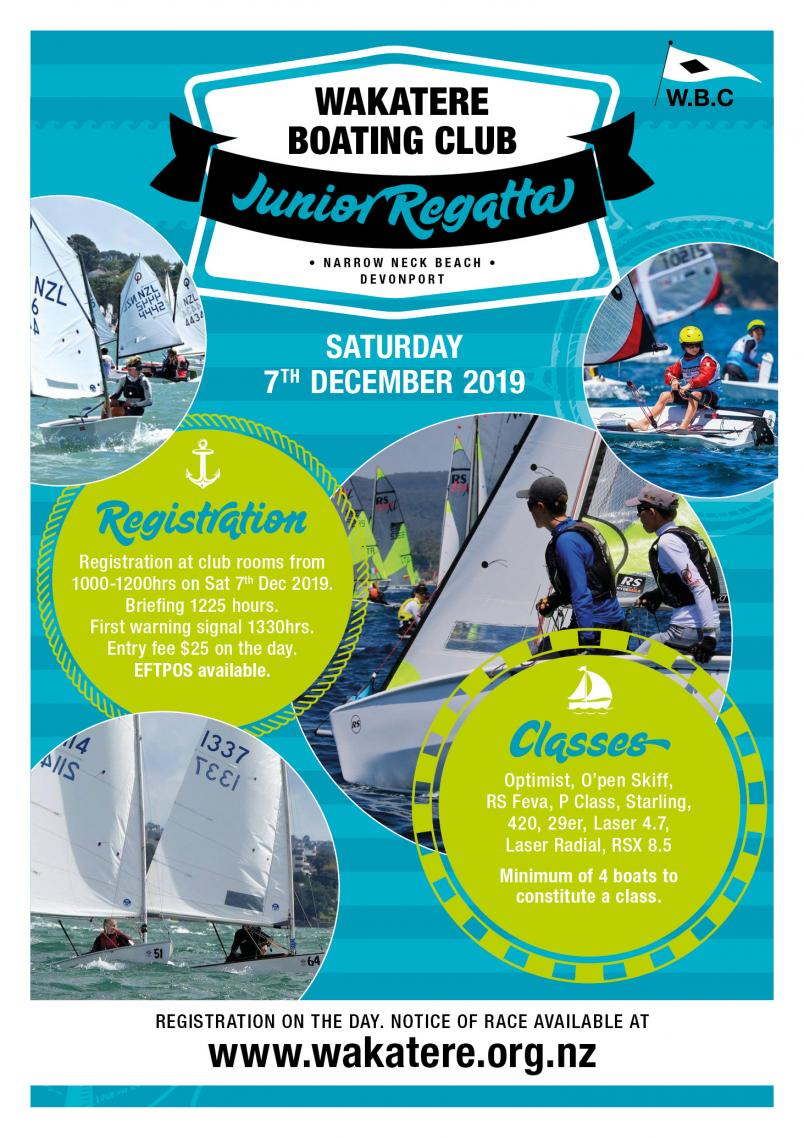 2019 Wakatere Junior Regatta Flyer