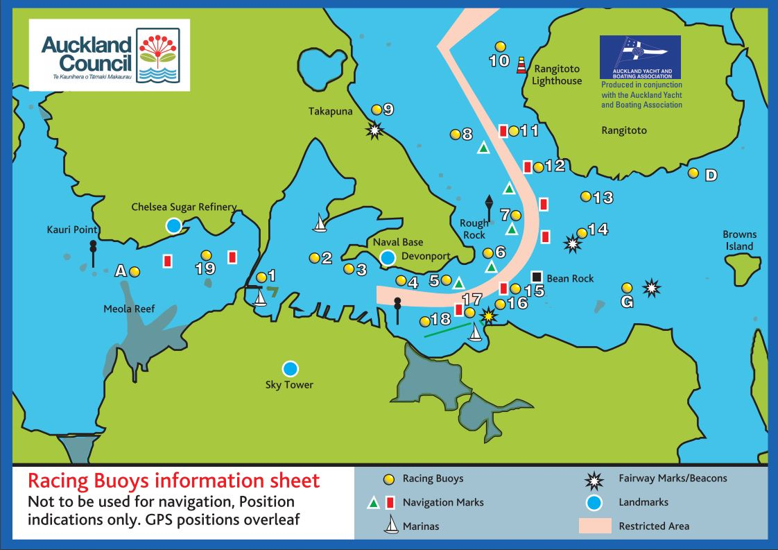 Download a copy of Auckland Harbour racing marks | Yachting New Zealand